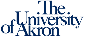 The logo for The University of Akron
