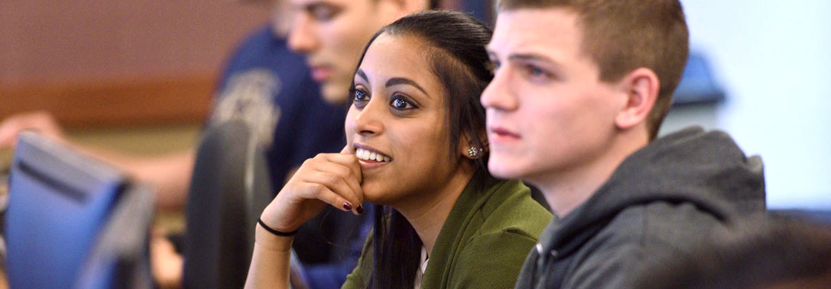 Students in a business class at The University of Akron
