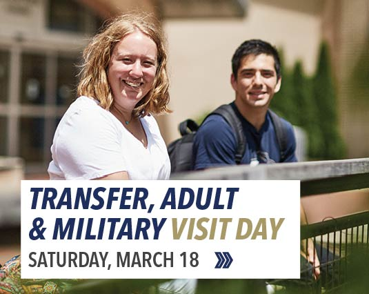 Visit us on Adult, Transfer and Military Service Day