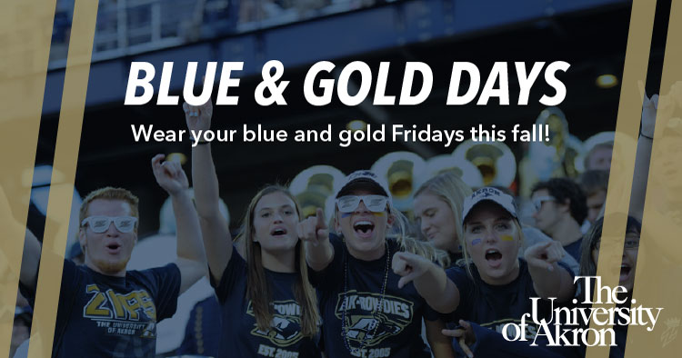 Wear your Blue and Gold on Fridays this fall