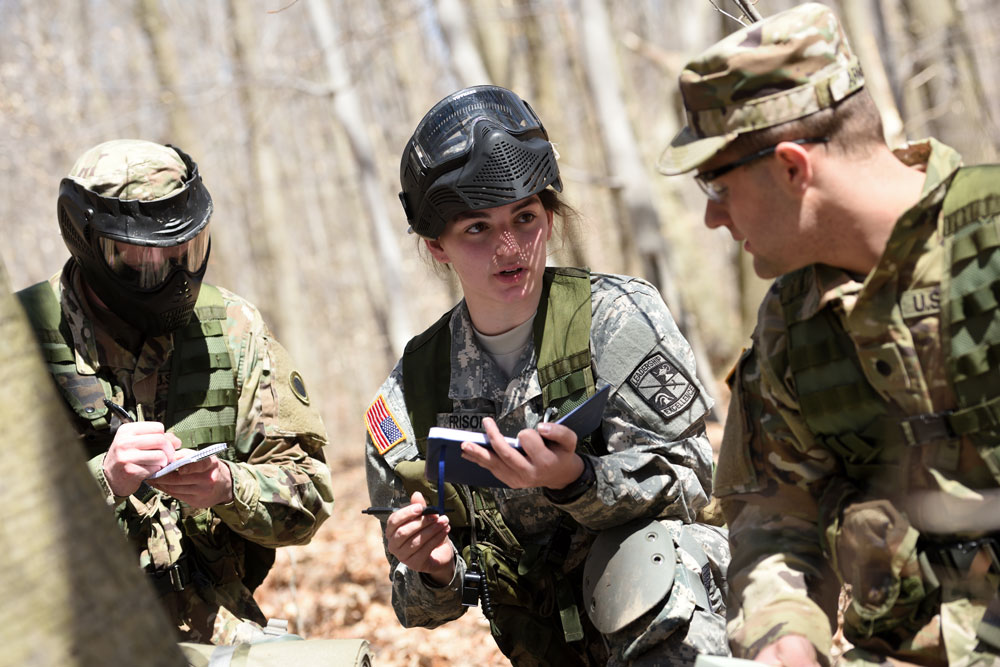 Cadets participate in a field training exercise