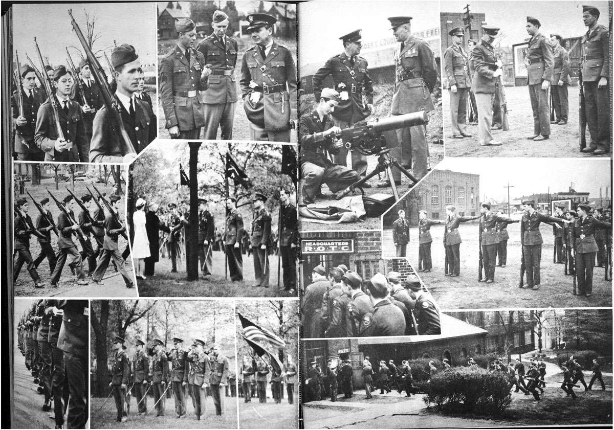 Yearbook page showing ROTC activities in 1940
