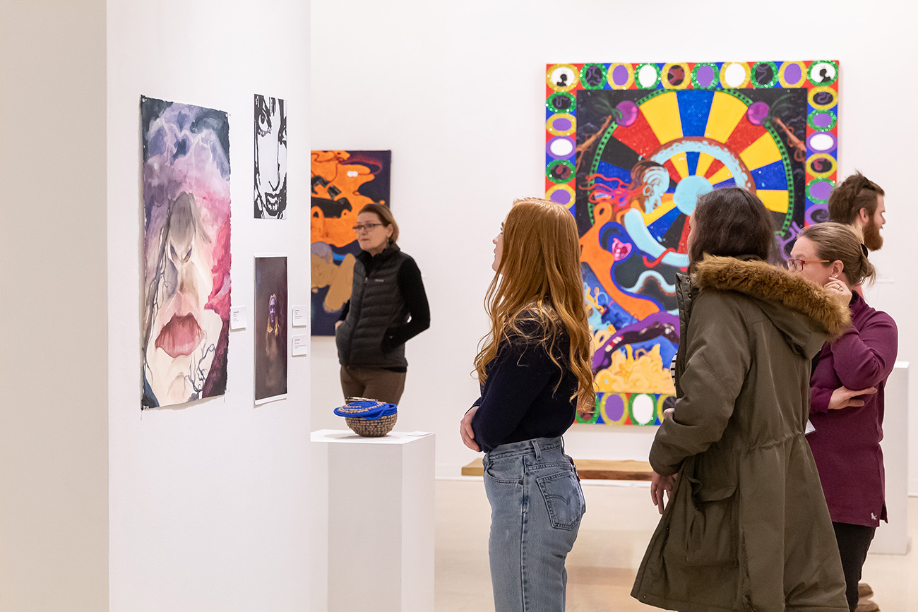 Image from the 84th Annual Juried Student Exhibition in the Emily Davis Gallery