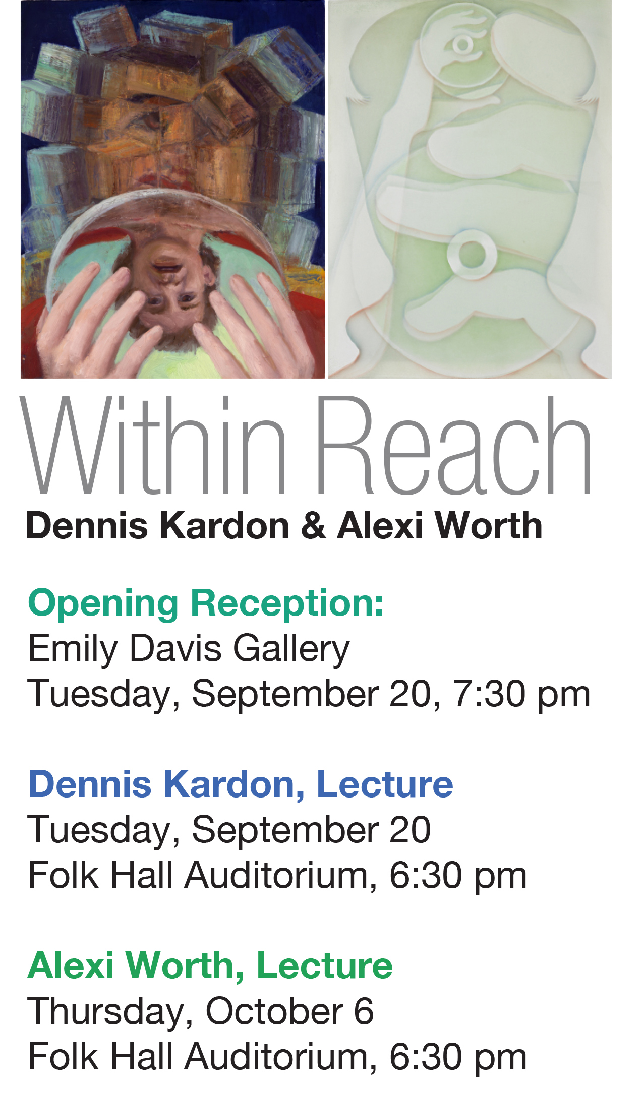 Within Reach Exhibition Poster