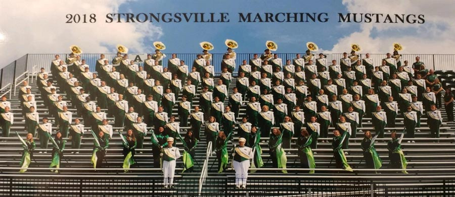 Strongsville High School Wind Ensemble group photo.