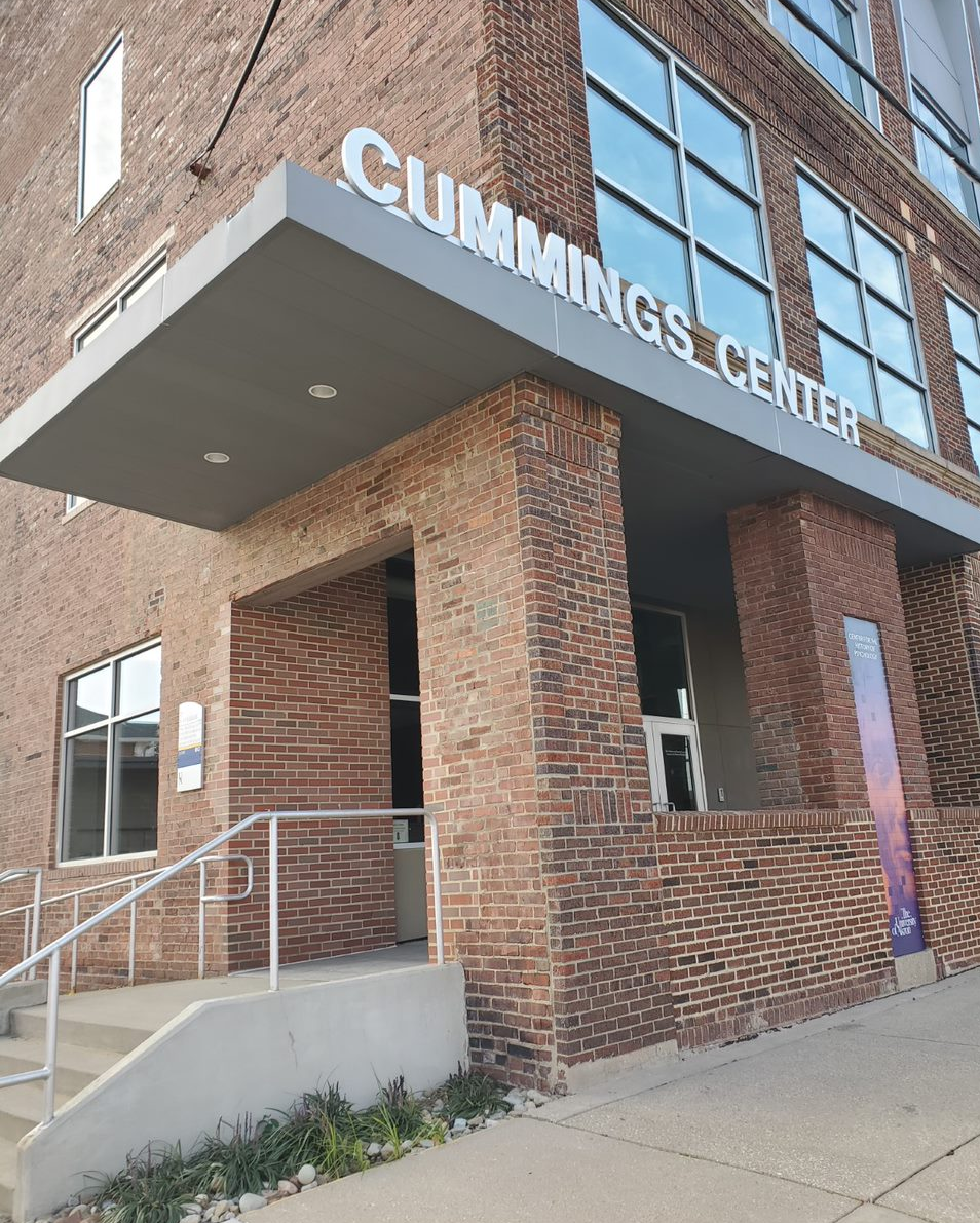Exterior of the Cummings Center during the day