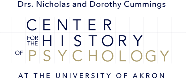 Logo Image: Doctors Nicholas and Dorothy Cummings Center for the History of Psychology at the University of Akron
