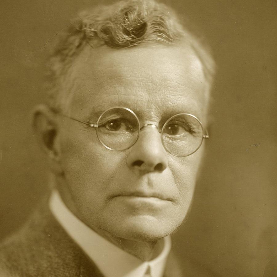 Sepia photo of a man, Edmund Delabarre
