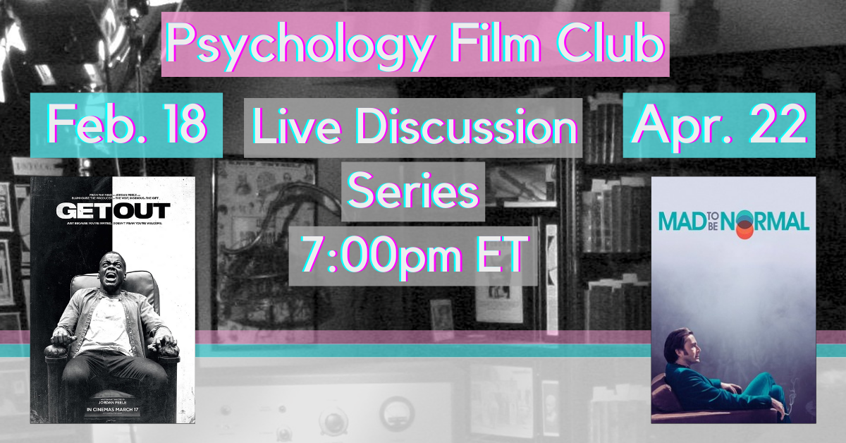 Promo graphic for Psychology Film Club