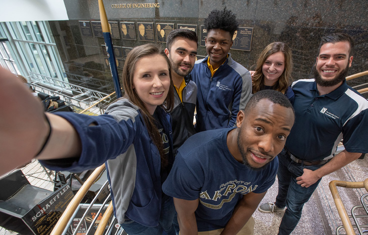 College of Engineering and Polymer Science students at The University of Akron
