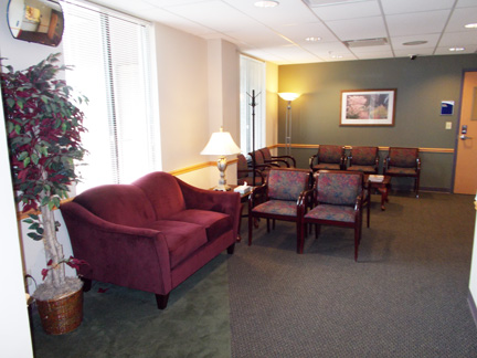 Reception area:  Clinic for Individual and Family Counseling
