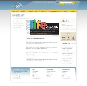 Web Design Samples : The University of Akron