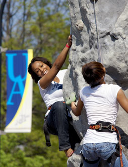 Center for Conflict Management image of student climbers