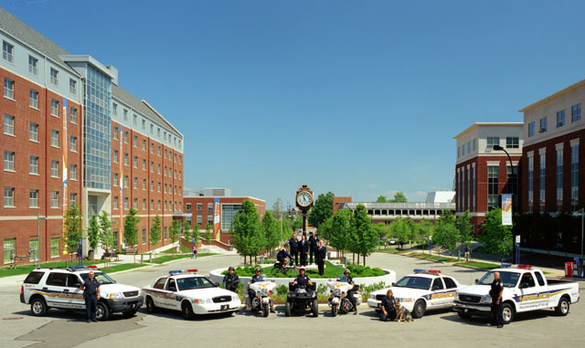 Members of The University of Akron police department