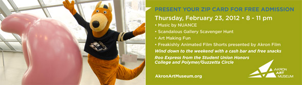 Akron Art Museum promotion for UA students