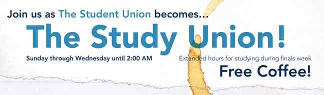 Study Union Spring 2014 Banner