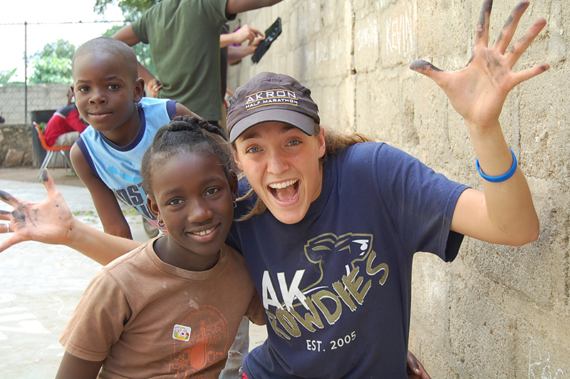 Student in Haiti