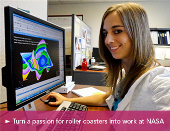 Turn a passion for roller coasters into work at NASA