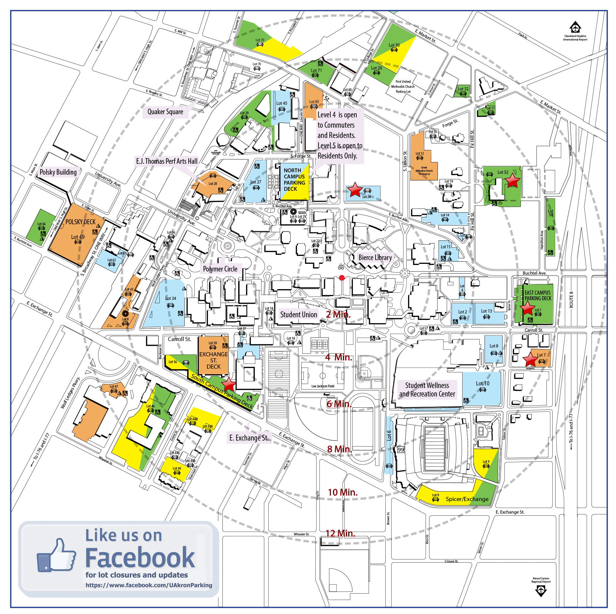 Maps The University of Akron – Map University