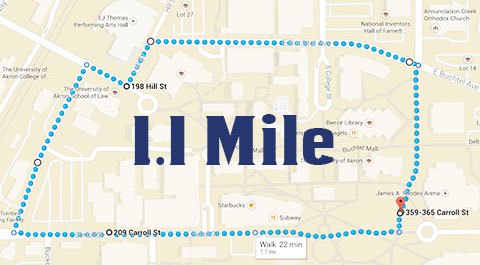 1.1 Mile Walking Route