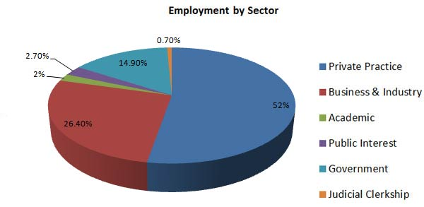 Employment by Sector Pie Chart