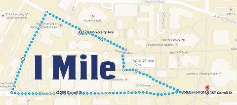 1 Mile Walking Route