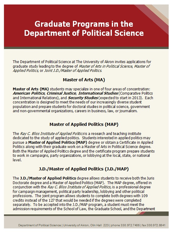 Image Graduate Programs in Political Science