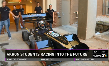 News screenshot of Akron car