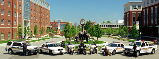 Officers in the University of Akron police department