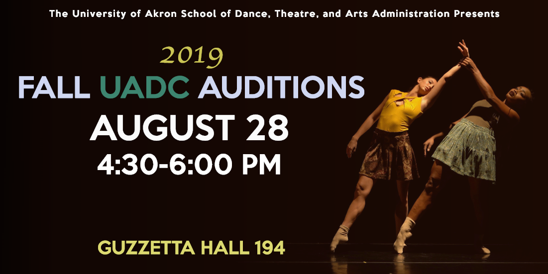 FALL UADDC AUDTIONS BANNER