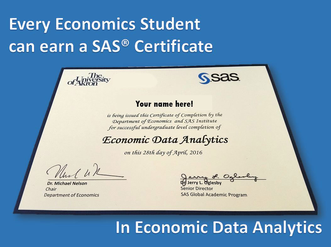 SAS Certificates : The University of Akron