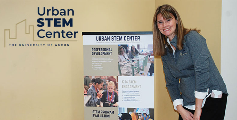 Education professor at The University of Akron working with the Urban Stem Center
