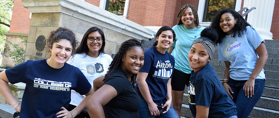 Women in engineering students in the College of Engineering at The University of Akron