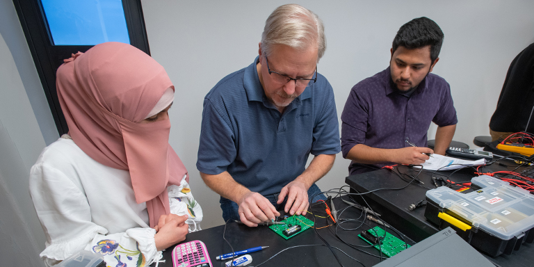Biomedical Engineering faculty teaching at The University of Akron