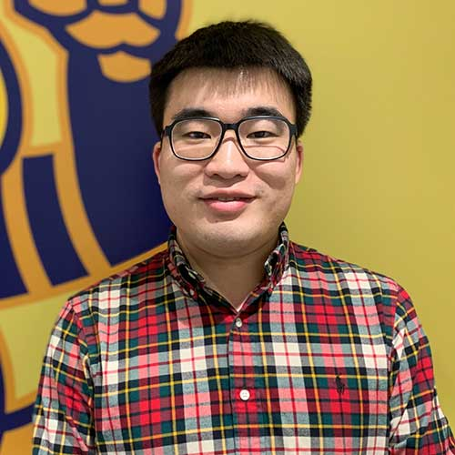 Chemical engineering graduate student Yongqing Cai at The University of Akron