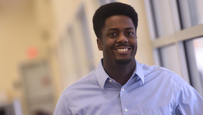 The University of Akron College of Engineering student success Josh Thomas headshot