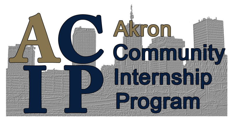 The Akron Community Internship Program logo.