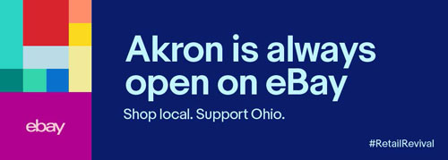 The Akron Community Internship Program along with eBay in Akron logos.