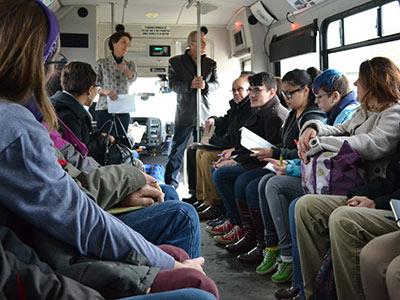 Field trip on a bus