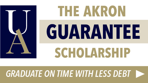 The Akron Guarantee Scholarship increases in value as you earn credits