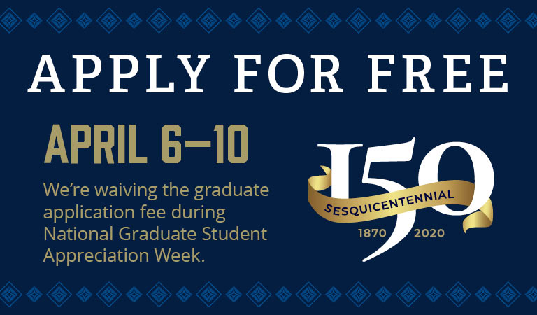 Appy free to the Graduate School at The University of Akron from April 6-10