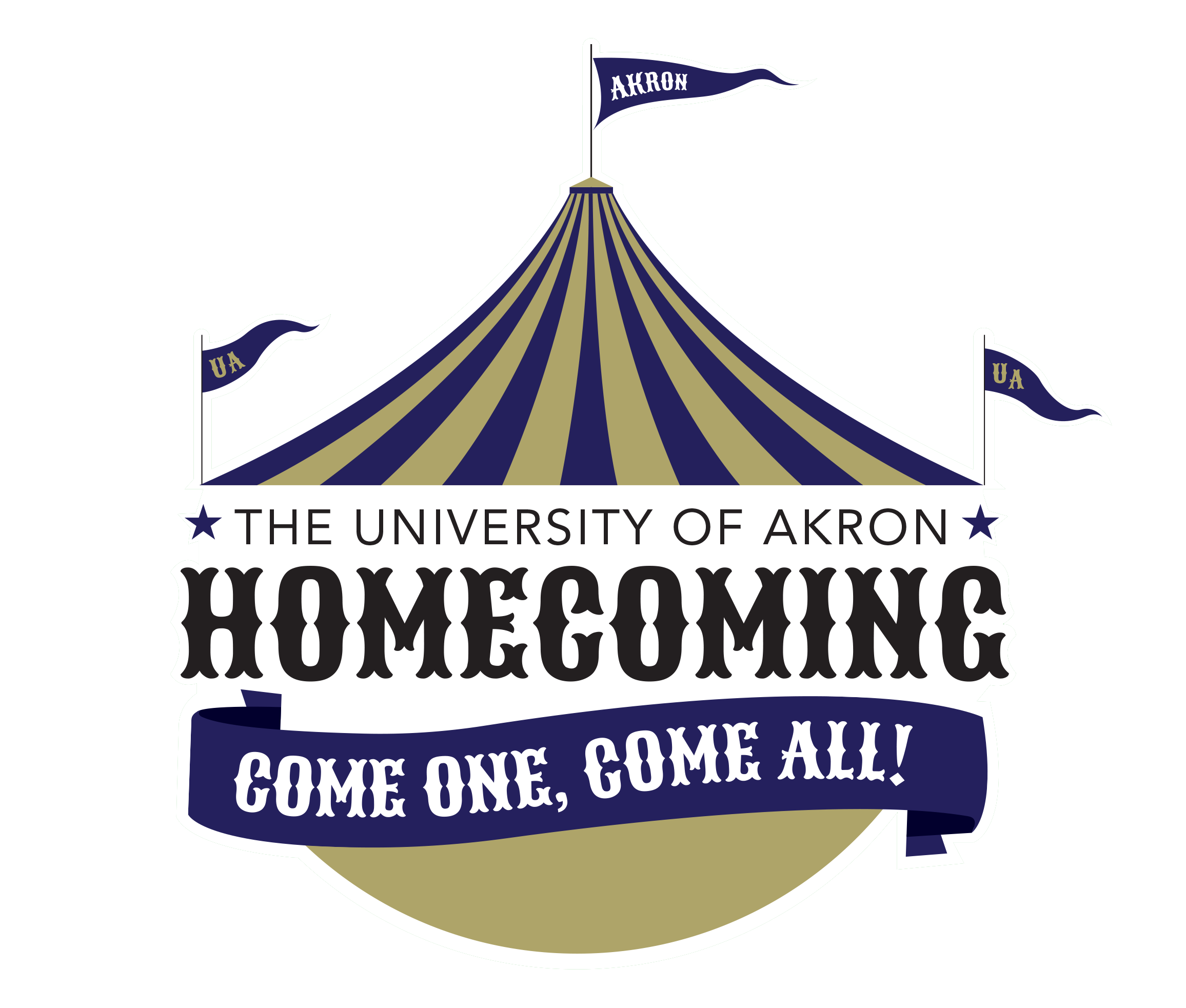 Logo for the University's homecoming