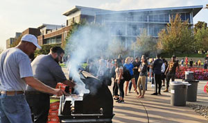 Cookout on The University of Akron campus