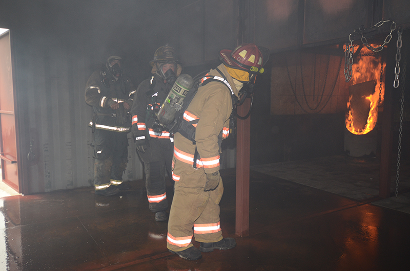Area firefighters do 'real-world' training at new UA