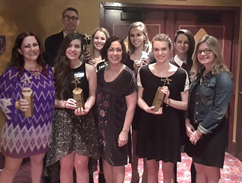 Photo of Students and faculty from our Myers School of Art at the ADDYs