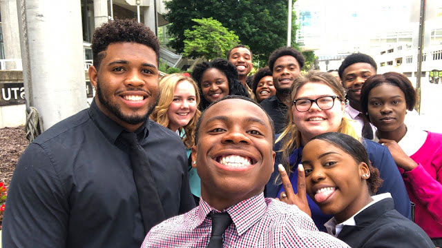 Students in Akron Law's pre-law immersion program