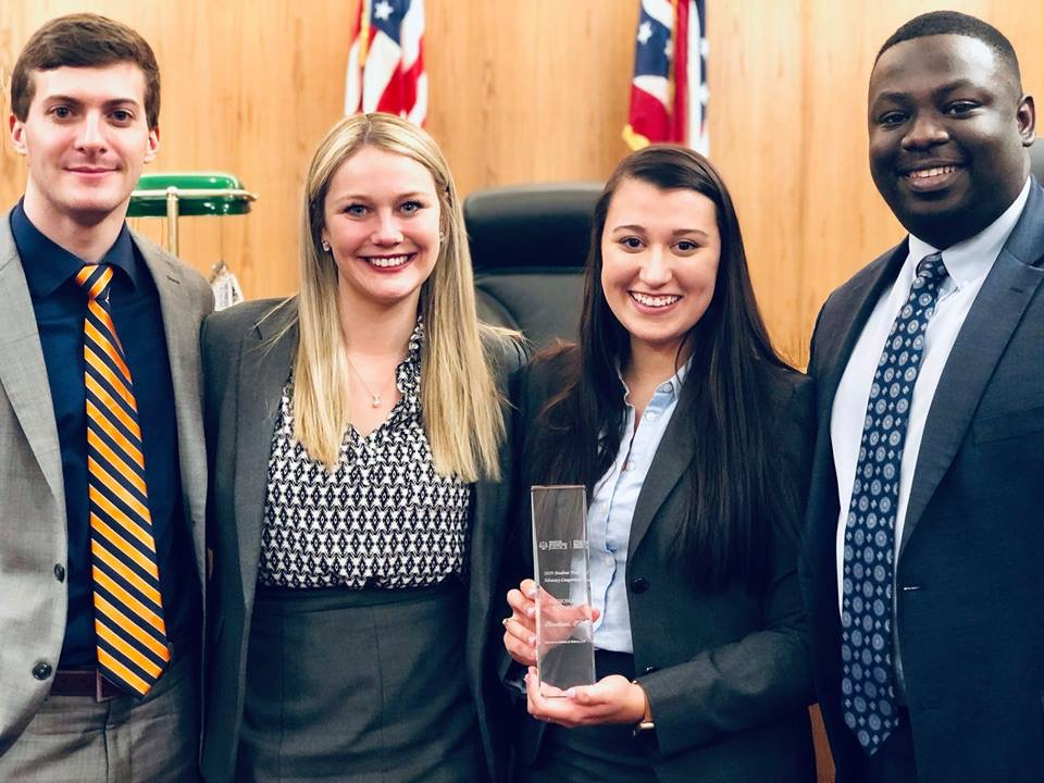 Akron moot court trial team