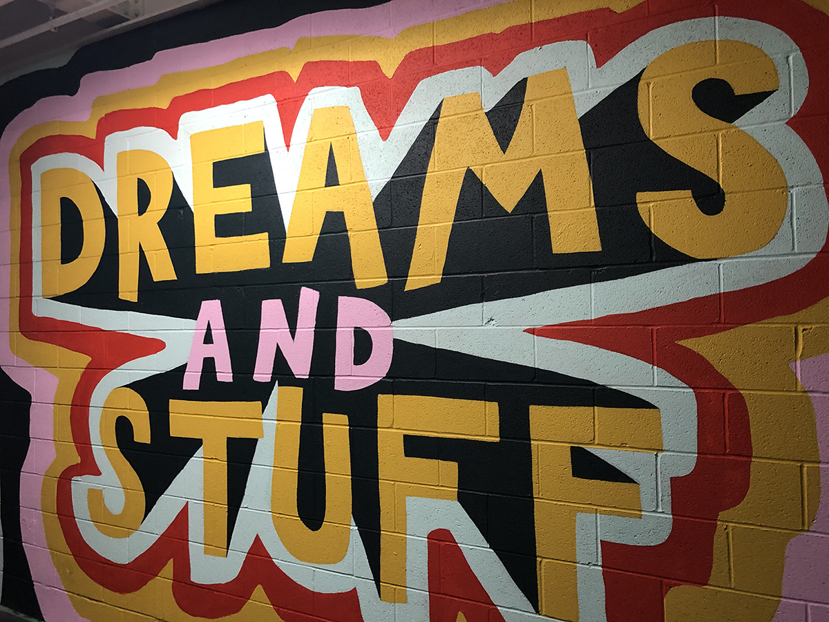 Dreams and Stuff Bounce mural