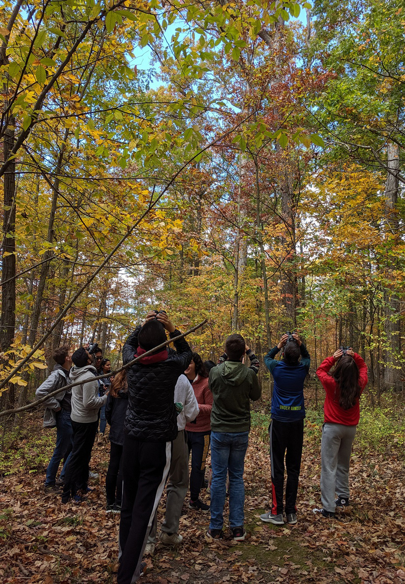 Students experiencing outdoor education opportunities at the Field Station.