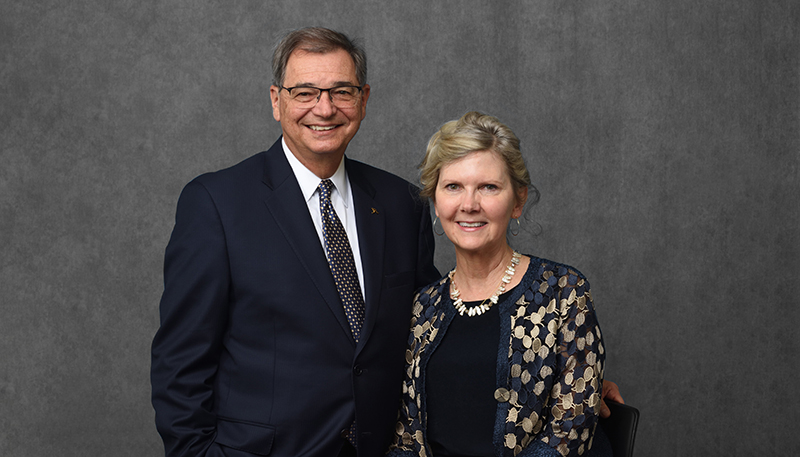 Dr. Gary L. Miller, with his wife, Georgia